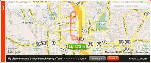 Nike+ Map