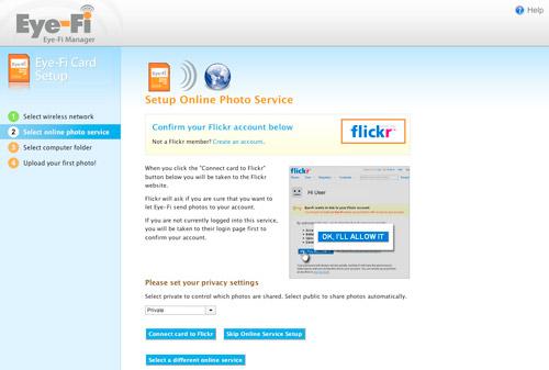 Eye-Fi Website Setup