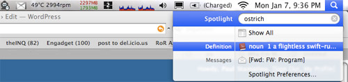 OS X - Spotlight