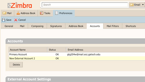 Zimbra Accounts
