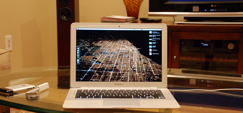 MacBook Air on a table