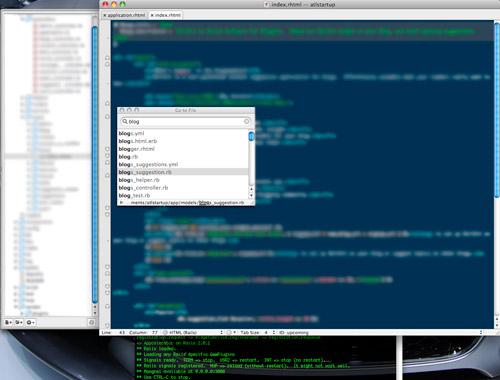 Skribit Dev: TextMate + Terminal