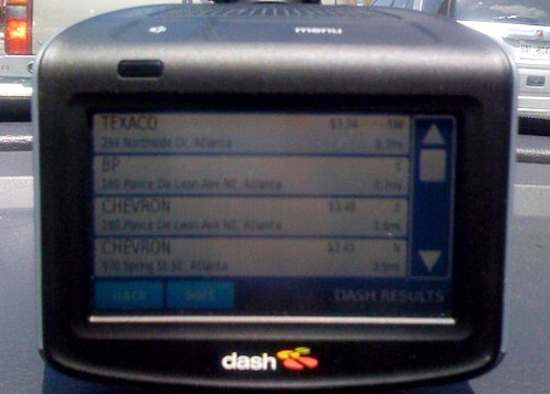 Dash Express Gas Prices via Yahoo! Local