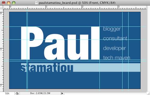 Paul Stamatiou's Business Card