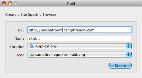 Fluid.app: Create a Campfire SSB