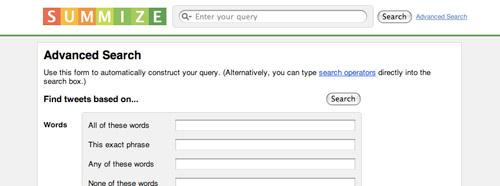 Summize Advanced Search
