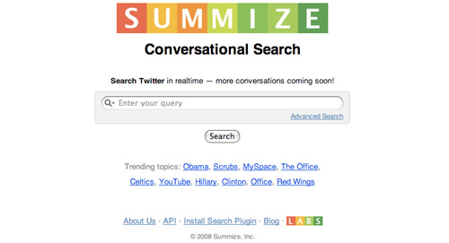 Summize Homepage