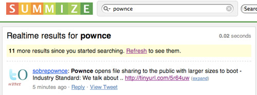 Summize Search for Pownce