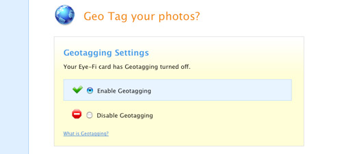 Eye-Fi Manager: Enable Geotagging