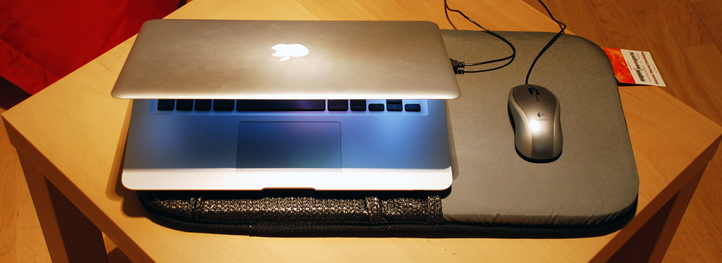 Wide Lapdesk With Macbook Air On A Table