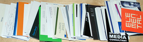 Business Card Overflow