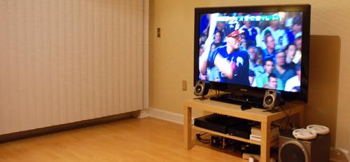Paul Stamatiou Home Theater - Samsung 50-inch Plasma HDTV