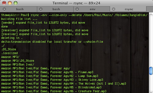 Rsync backup music jungledisk