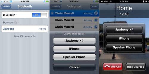 Jawbone Bluetooth Earpiece iPhone Settings