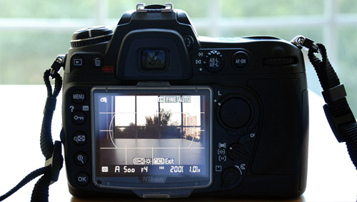 Nikon D300 DSLR Camera supports Liveview