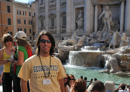 Paul Stamatiou at Trevi Fountain in Rome, Italy