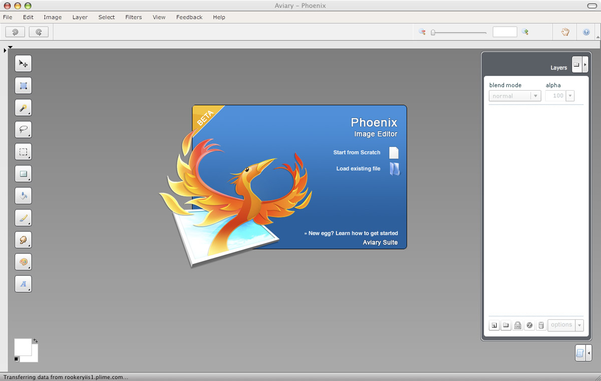 First impressions aviary app suite Vector editor