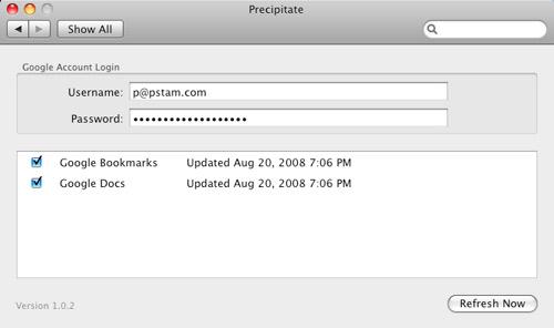 OS X Precipitate Settings