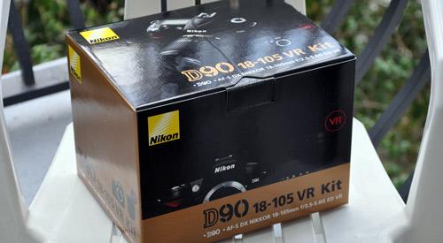 Nikon D90 VR Kit Box