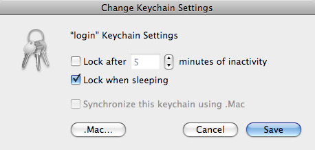 OS X Login Keychain Security Settings