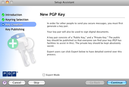 Create New PGP Key