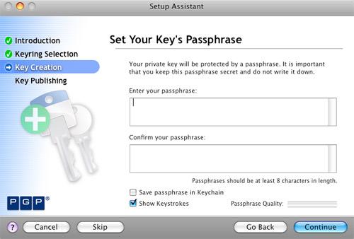 PGP Key Passphrase