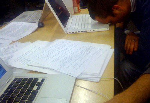 All-nighter in the library