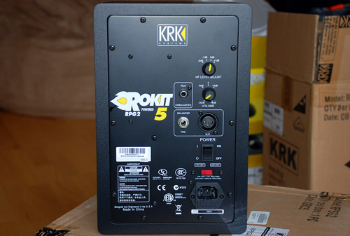 Back of Rokit RP5G2 Studio Monitor
