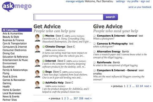 AskMeGo Homepage