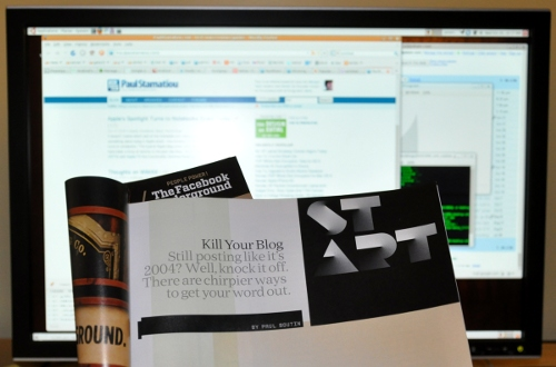 Wired Magazine article: Kill Your Blog