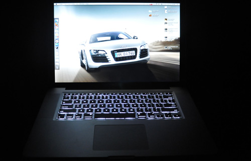MacBook Pro in the dark