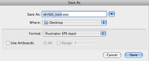 Save icon as Illustrator EPS