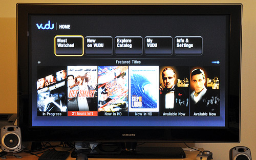 Vudu box connected to my HDTV