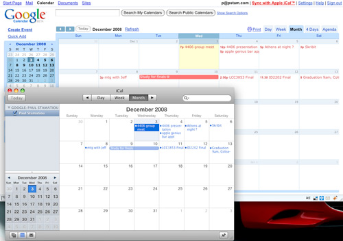 Syncing Google Calendar with Apple iCal
