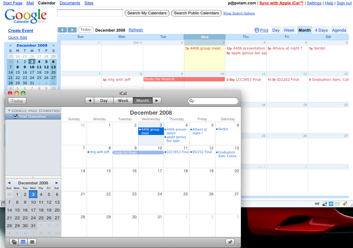 Sync Google Calendar With Ical On Digital Organization: Things, Google Cal & iCal Syncing