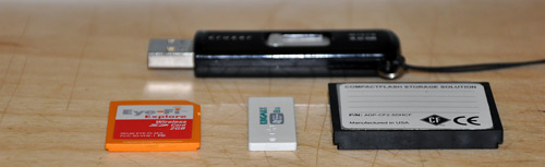 Kingmax Super Stick 8GB USB Flash Drive Size Comparison