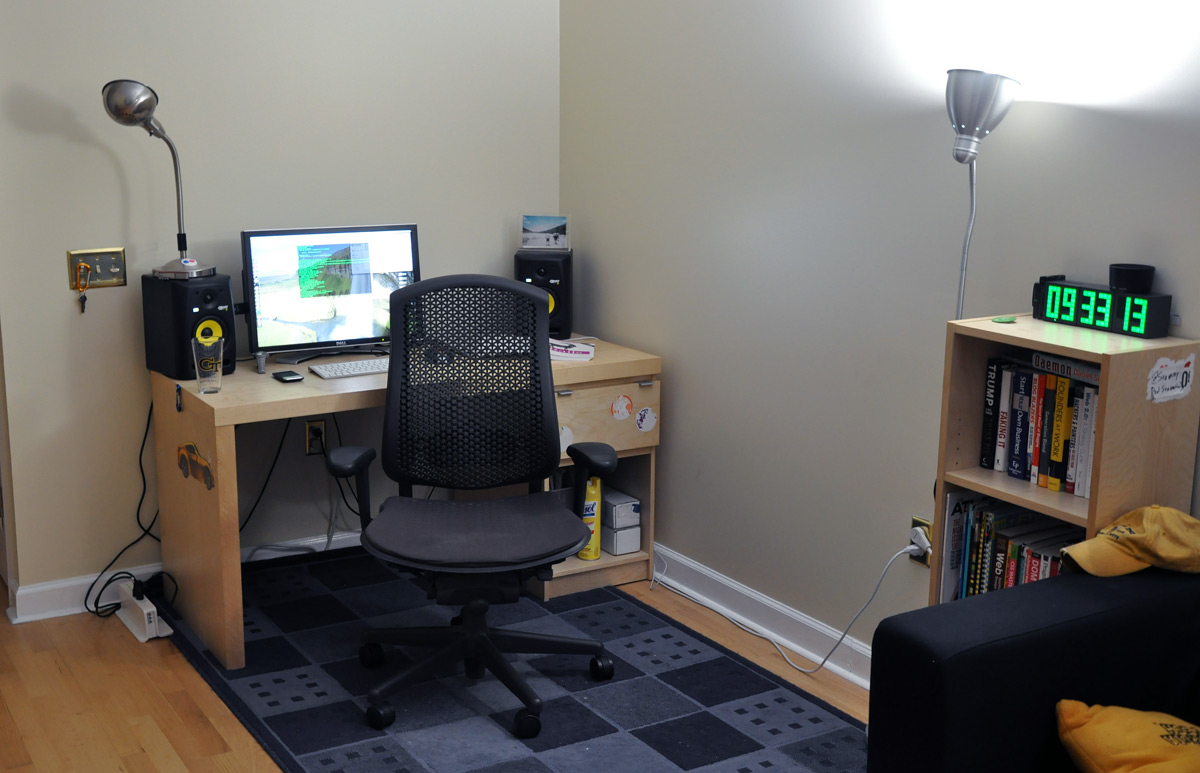 home office setup work home. Paul Stamatiou\u0027s Working From Home Office And Desk Setup Work L