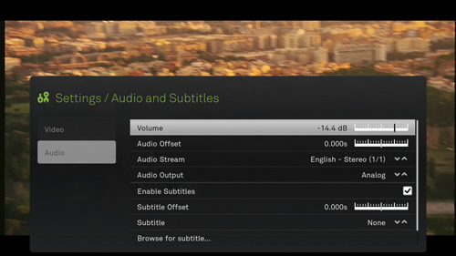 Detailed Boxee Audio Playback Settings