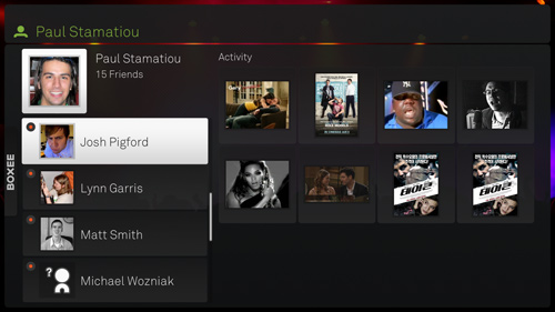 Friends on Boxee