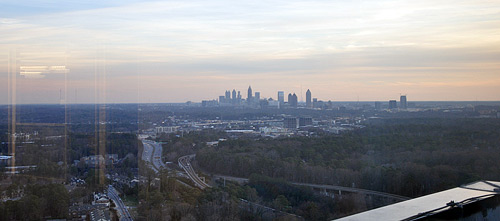 Atlanta's Downtown Skyline as seen from the 34th Floor Hannon Hill Offices