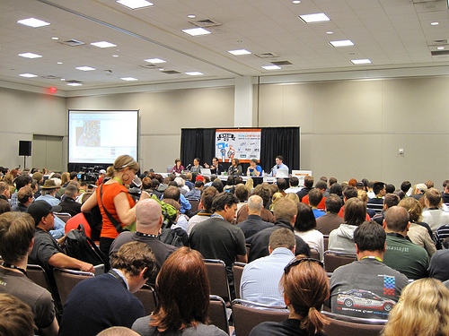 a typical packed SXSWi panel