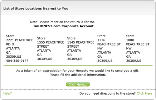 ImHonest UPS Locations