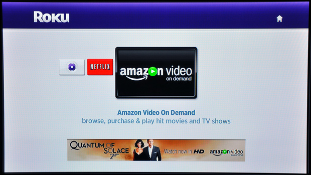 Roku Player - Amazon Menu