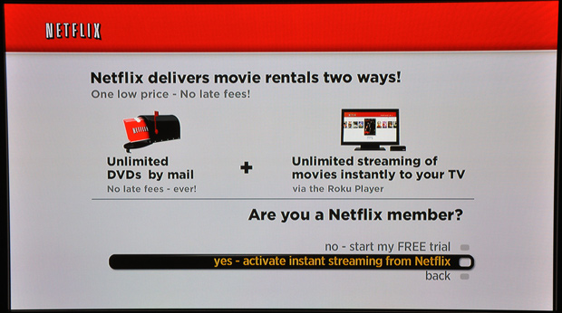Roku Player - Activate Netflix