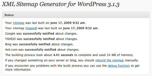 Google XML Sitemaps Generator WordPress plugin
