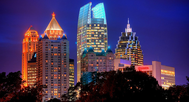 HDR photo of Midtown Atlanta