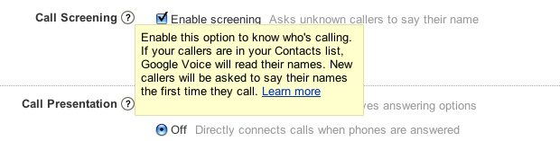 Google Voice Call Screening