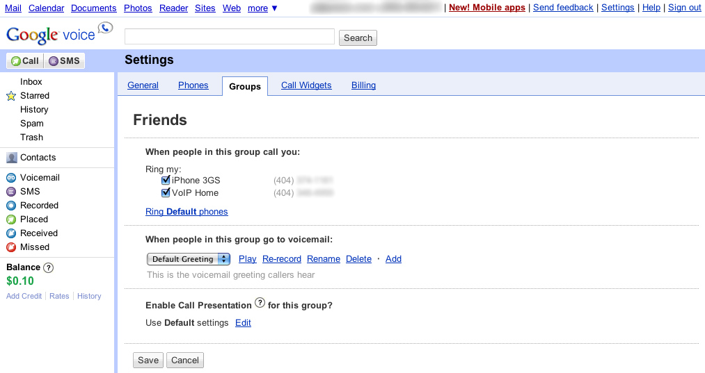 First impressions google voice paulstamatiou google voice groups setting m4hsunfo