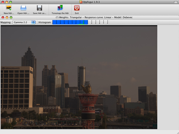 The qtpfsgui-created HDR prior to tone-mapping