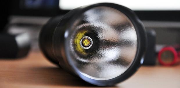 Legion II reflector and LED close-up